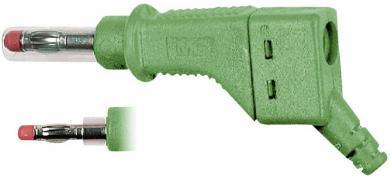 Mufă banană MultiContact XZGL-425, interconectabil, 4 mm, verde