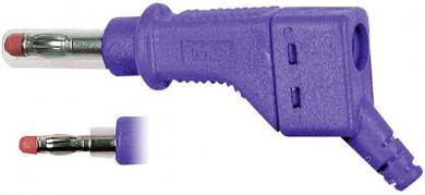 Mufă banană MultiContact XZGL-425, interconectabil, 4 mm, violet