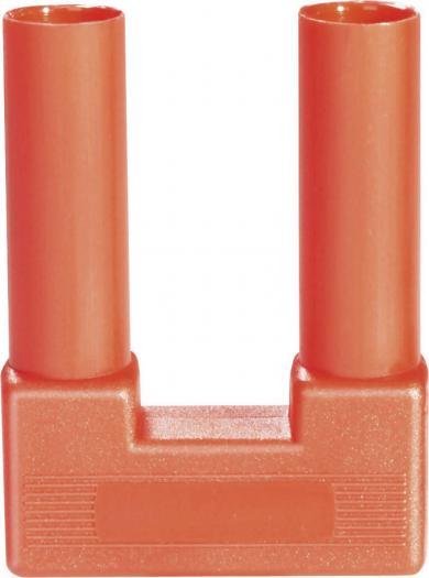 Mufă de legătură complet izolată Schnepp SI-FK 19/4, 25 A, 4 mm, roşu