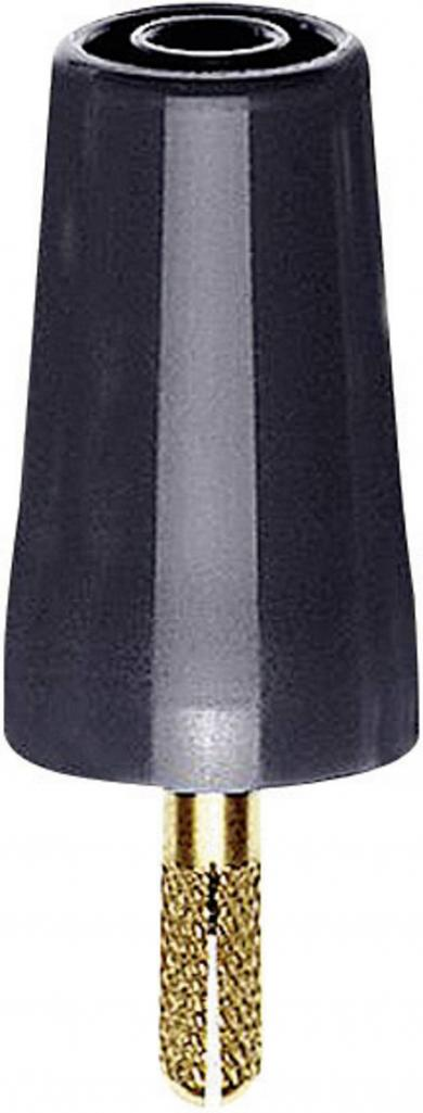 Adaptor cu fişă cu şurub MultiContact A-SLK4, aurit, negru