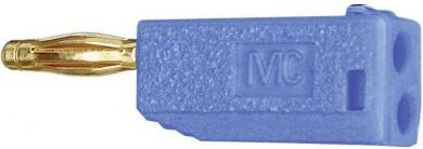 Mufă banană cu filet lamelar MultiContact SLS205-A albastru