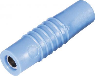 Mufă banană mamă Schnepp KP 4000, 25 A, 4 mm, conexiune prin lipire, albastru