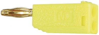 Mufă banană cu filet lamelar MultiContact SLS205-A galben
