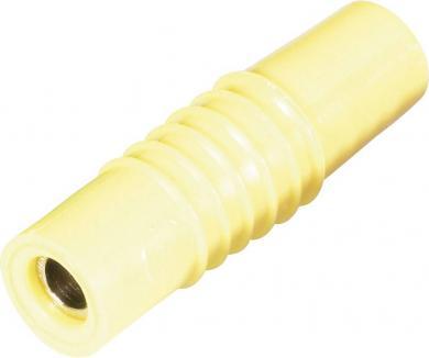 Mufă banană mamă Schnepp KP 4000, 25 A, 4 mm, conexiune prin lipire, galben