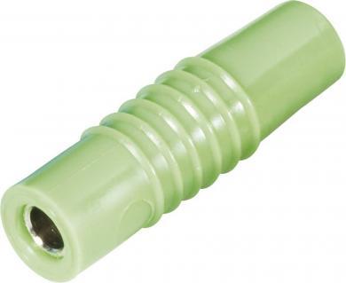 Mufă banană mamă Schnepp KP 4000, 25 A, 4 mm, conexiune prin şurub, verde