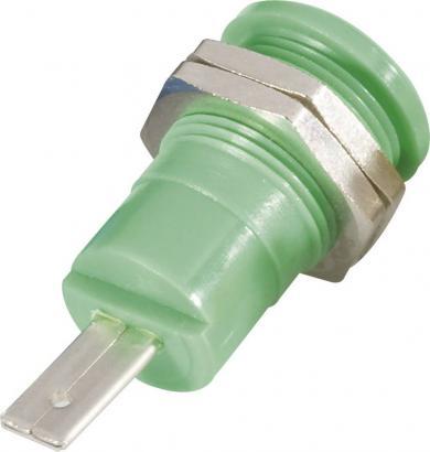 Soclu de siguranţă pentru montare Schnepp BU 4600, 25 A, 4 mm, conexiune prin conector plat 4,8 mm, verde