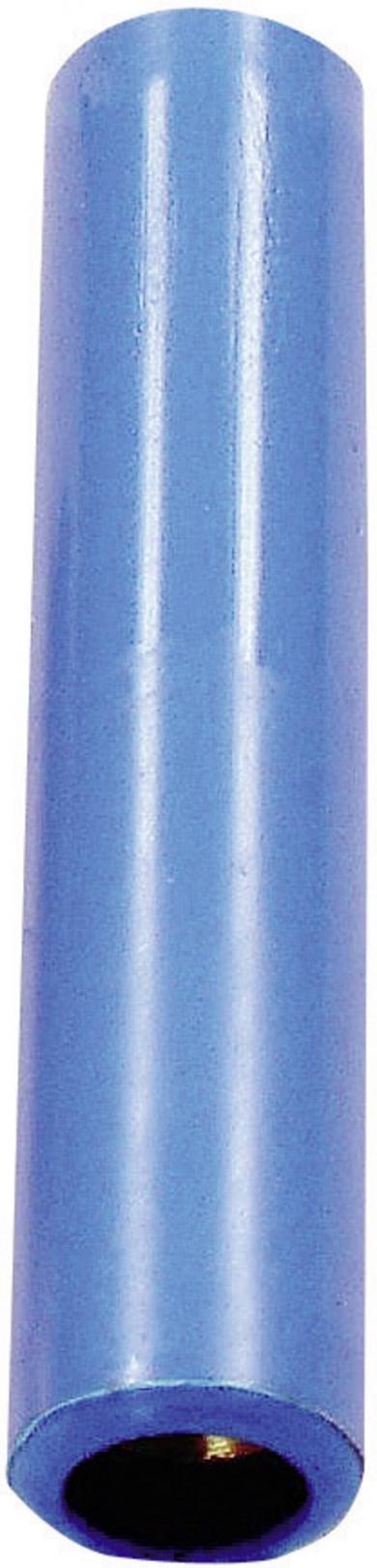 Mufă banană mamă Hirschmann KK4/4, 32 A, 4 mm, albastru