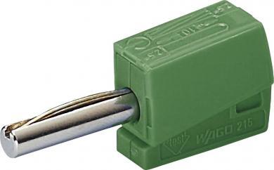 Conector rapid seria 215, Ø ştift 4 mm, WAGO 215-411, verde