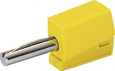 Conector rapid seria 215, Ø ştift 4 mm, WAGO 215-511, galben