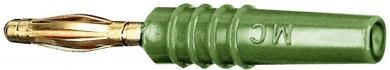 Mufă banană cu filet lamelar SLS205-L MultiContact verde