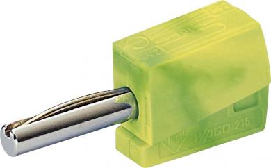 Conector rapid seria 215, Ø ştift 4 mm, WAGO 215-911, verde-galben