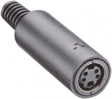 Conector mamă mini-DIN, drept, 7 pini, MP-371/S7 Lumberg