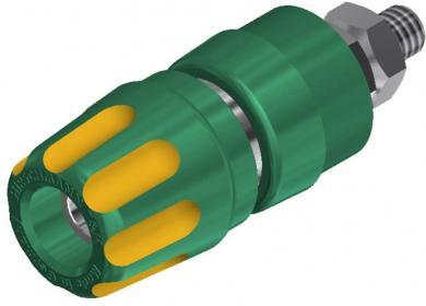 Bornă cu şurub 35 A, SKS Hirschmann PKI 10 A, galben-verde