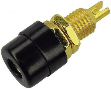 Conector pentru montare SKS Hirschmann BIL 20 Au, Ø știft 4 mm, negru