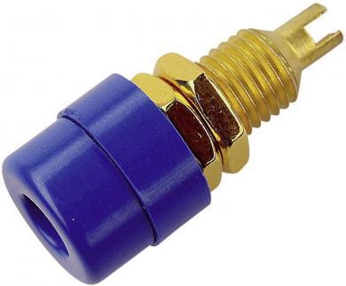 Conector pentru montare SKS Hirschmann BIL 20 Au, Ø știft 4 mm, albastru