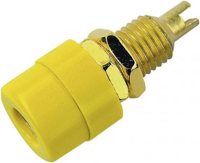 Conector pentru montare SKS Hirschmann BIL 20 Au, Ø știft 4 mm, galben