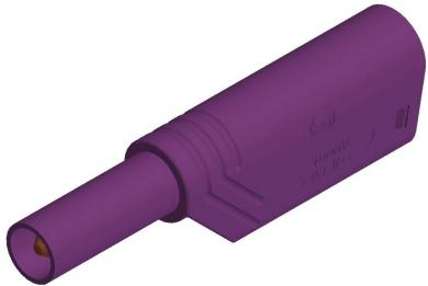 Mufă banană izolată SKS Hirschmann, LAS S WS, 4 mm, violet