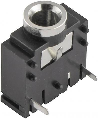 Jack 3,5 mm, soclu mamă, stereo, pentru montare