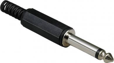 Jack 6,35 mm, mufă tată, mono, drept, 1107001 BKL Electronic