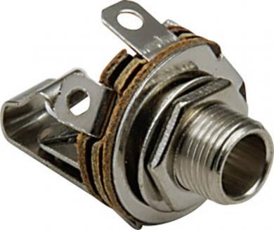 Jack 6,35 mm, soclu mamă, mono, pentru montare, 1109001 BKL Electronic