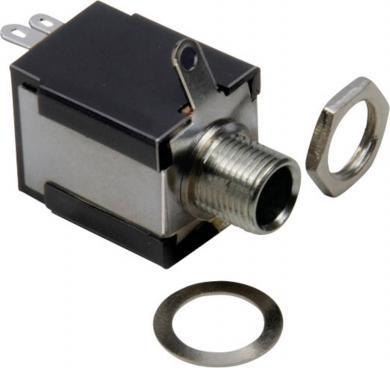 Jack 6,35 mm, soclu mamă, mono (neizolat), pentru montare, 1109032 BKL Electronic