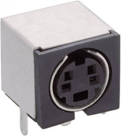 Conector soclu miniatură, pentru montare, 4 pini, TM 0508 A/4 Lumberg