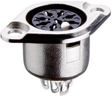 Conector DIN, soclu mamă, cu blocare, 7 pini, 0103 07 Lumberg