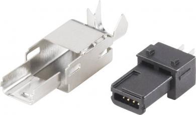 Mufă mini-USB B 2.0, 4 pini, 10120251 BKL Electronic