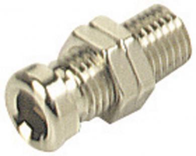 Conector neizolat SKS Hirschmann BO 10, Ø știft 4 mm, nichelat