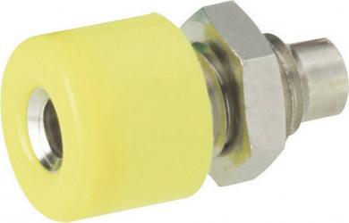Conector miniatură Ø 2,6 mm, versiune soclu, galben