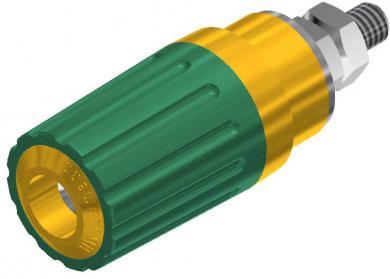 Bornă cu şurub 35 A, SKS Hirschmann PKI 100, galben-verde