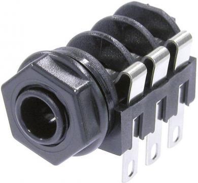 Jack 6,35 mm, soclu mamă, pentru montare, NMJ6HF-S Neutrik