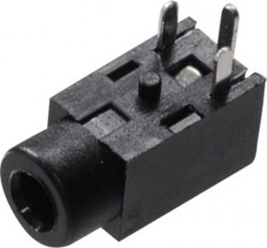 Jack 2,5 mm, soclu mamă, mono, montare circuit imprimat