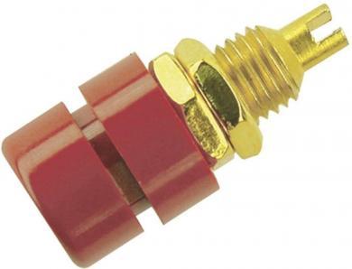 Conector pentru montare SKS Hirschmann BIL 30 Au, Ø știft 4 mm, roșu