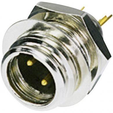 Conector XLR-Tiny, mufă tată, drept, 3 pini, culoare: nichel