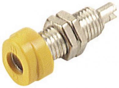 Soclu pentru montare SKS Hirschmann BUG 10, Ø știft 4 mm, galben