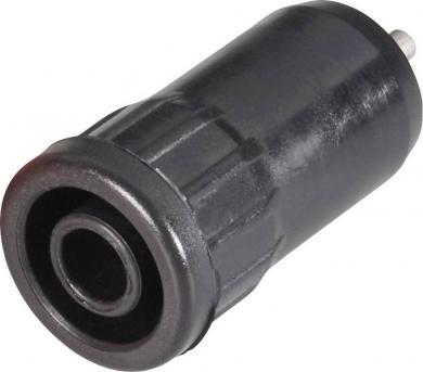 Soclu de siguranţă press-in Schnepp BU 4800, 25 A, 4 mm, conexiune prin lipire, negru