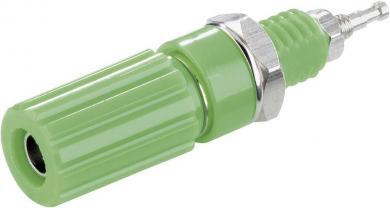 Bornă cu şurub SCI 10 A, complet izolată, cu cap canelat, verde