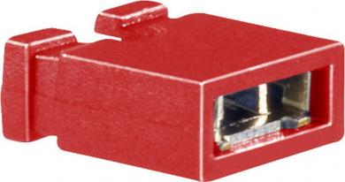 Jumper 10120188 BKL Electronic, pas pini 2.5/2.54 mm, roşu