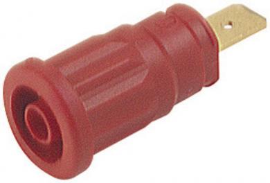 Soclu de siguranţă Hirschmann SEP, 32 A, 4 mm, conexiune prin conector plat 6,3 mm, roşu
