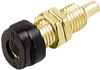 Soclu pentru montare Hirschmann BUG 10 Au, material: alamă aurită, 16 A, 4 mm, negru