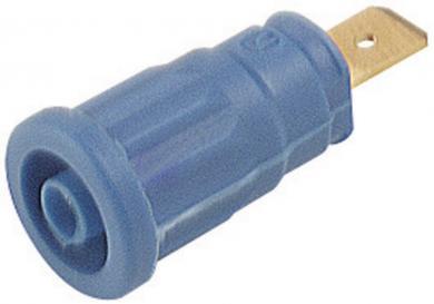 Soclu de siguranţă Hirschmann SEP, 32 A, 4 mm, conexiune prin conector plat 6,3 mm, albastru