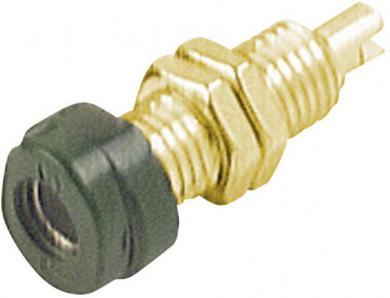 Soclu pentru montare Hirschmann BUG 10 Au, material: alamă aurită, 16 A, 4 mm, verde