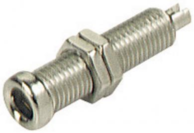 Conector neizolat SKS Hirschmann BU 20, Ø știft 4 mm, nichelat