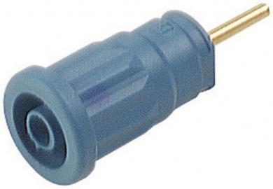Soclu de siguranţă Hirschmann SEP, 24 A, 4 mm, conexiune prin lipire, albastru