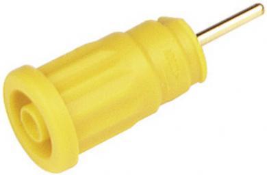 Soclu de siguranţă Hirschmann SEP, 24 A, 4 mm, conexiune prin lipire, galben