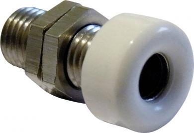 Soclu parţial izolat, versiune cap la cap, Ø știft 4 mm, alb