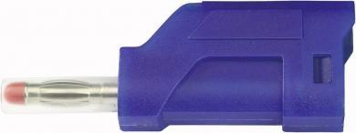 Conector cu lamelă, SCI, 4 mm, albastru