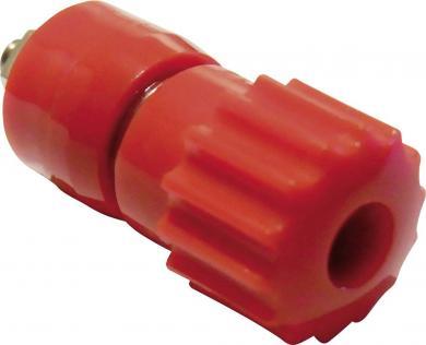 Bornă cu şurub SCI 16 A, complet izolată, cu cap canelat, nedetaşabil, roșu