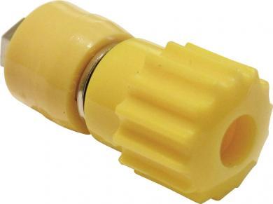 Bornă cu şurub SCI 16 A, complet izolată, cu cap canelat, nedetaşabil, galben